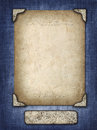 Vintage Card In A Carved Frame On Fabric Background Royalty Free Stock Photo - 37513615
