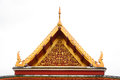 Gable Roof On Thai Temple In Wat Ratchanadda, Bangkok, Thailand Stock Images - 37524714