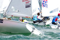 Bouvet & Mion Win ISAF Sailing World Cup Miami In 470 Class Stock Photography - 37526042