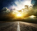 Bird And Road On A Decline Stock Images - 37538744