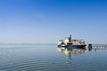 Small Ship At The Pier Royalty Free Stock Image - 37544616