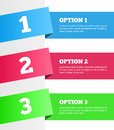 One Two Three - Vector Progress Steps Royalty Free Stock Images - 37550529