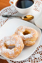Two Cream Puffs Royalty Free Stock Image - 37557176