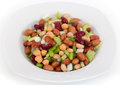 Mixed Beans Salad On Table Royalty Free Stock Image - 37568056