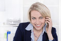 Portrait Of A Mature Or Senior Business Woman Flirting On Mobile Stock Photo - 37578720