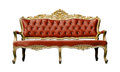 Vintage Luxury Scarlet Sofa Armchair Isolated On White Stock Images - 37591304