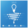 Light Bulb Timeline Business Infographic Design Template Royalty Free Stock Photos - 37597408