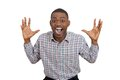 Happy Man Excited And Surprisedm, Looking At Camera Royalty Free Stock Photos - 37600578