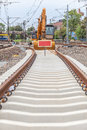 Construction Of A New Railway Line Royalty Free Stock Image - 37602756
