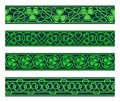 Seamless Borders With Shamrock Stock Image - 37613621