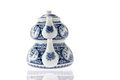 Antique Blue And White Turkish Teapot Royalty Free Stock Image - 37614856