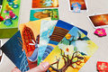 Playing In Dixit Card Game Stock Photo - 37619790