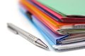 Folders,paper And Pen Stock Image - 37644951