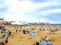 Busy Beach And Town, Bridlington,Yorkshire; Royalty Free Stock Images - 37648879