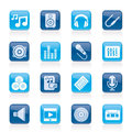Music, Sound And Audio Icons Stock Image - 37653701