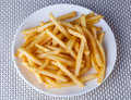 Close Up Fried French Fries In White Plate Royalty Free Stock Images - 37659009