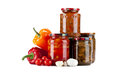 Fresh Tomato Sauce Homemade And Canned Mushrooms With Peppers An Stock Photography - 37661942