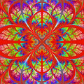 Multicolor Fabulous Fractal Pattern. Collection - Tree Foliage. Royalty Free Stock Image - 37664686