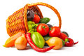 Autumn Vegetables In Basket Stock Images - 37675194