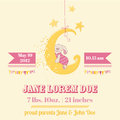 Baby Shower Or Arrival Card Royalty Free Stock Photo - 37684015