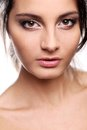 Attractive But Serious Girl With Brown Eyes Royalty Free Stock Images - 37694419