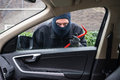 Car Burglar In Action Stock Photography - 37704742