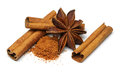 Star Anise And Cinnamon Royalty Free Stock Images - 37705009