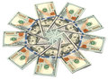 Sun Of Dollar Bills Stock Photography - 37706122