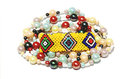 Isolated Colorful Beaded Bracelet And Necklace On White Stock Photo - 37717280