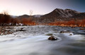 Winter Sunset At The Provo River. Royalty Free Stock Photo - 37718025