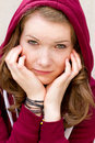 Portrait Of A Girl With Freckles Stock Images - 37733174