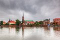 Wroclaw, Poland. Ostrow Tumski And Oder River Royalty Free Stock Photo - 37735505