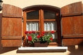 Window With Flowers Royalty Free Stock Photos - 37743948