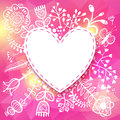 Flower Heart Frame. Vector Illustration, Can Be Used As Creating Royalty Free Stock Images - 37749019