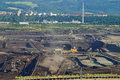 The Surface Mine Mining Of Brown Coal Stock Photo - 37750860