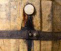 Macro Shot Of Bung In Wooden Bourbon Barrel Royalty Free Stock Photography - 37753947