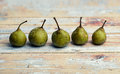 Small Green Pears Royalty Free Stock Photography - 37755747