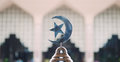 Islam Symbol In Front Of The Insude Of Outra Mosque Royalty Free Stock Image - 37759516