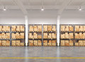 Warehouse With Many Racks And Boxes Stock Photography - 37768082