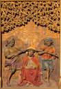 Bratislava - Torture Of Jesus With The Crown Of Thorns On Gothic Side Altar In St. Martin Cathedral. Stock Images - 37772204