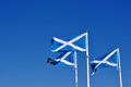 Three Scottish Or Saltire Flags Blowing In The Wind Stock Photos - 37777093