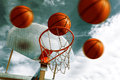 Basketball Hoop. Royalty Free Stock Photo - 37778005