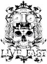 Live Fast Royalty Free Stock Images - 37778329