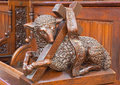 Bratislava - Agnus Dei Carved Sculpture From Bench In Presbytery In St. Matins Cathedral Royalty Free Stock Images - 37778839