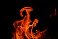 Fire Flame On Black Background Royalty Free Stock Image - 37782706