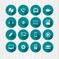 Icons On Aqua Royalty Free Stock Images - 37790439