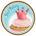 A Best Bakery Label With A Cake Royalty Free Stock Photography - 37793577