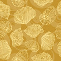 Seamless Vector Pattern In Shells Royalty Free Stock Photo - 37803105