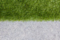 Green Grass And The Other Half Is Granite. Royalty Free Stock Photography - 37804377