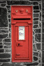 Red Post Box In Wall Royalty Free Stock Images - 37807639